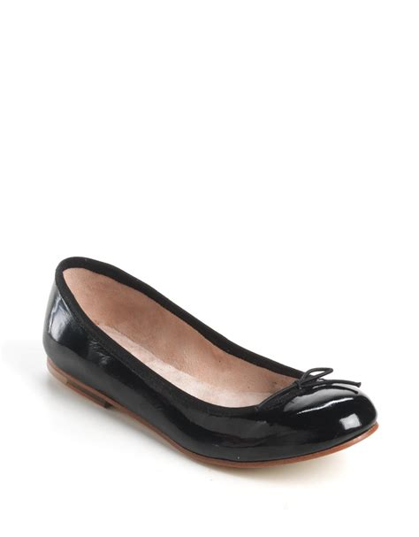 patent leather ballet flats bloch patent leather ballet flats in black black patent lyst
