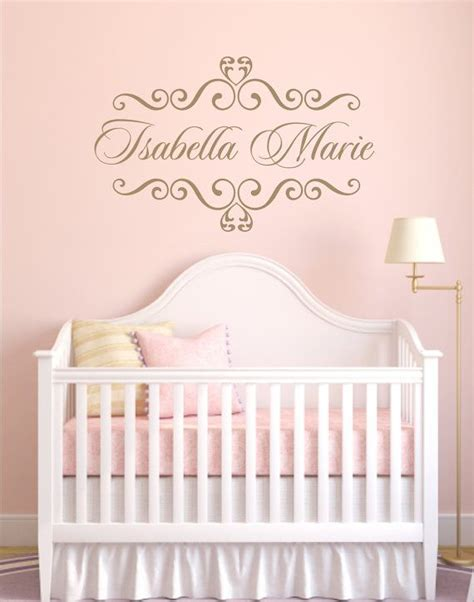nursery vinyl wall decals vinyl decal personalized baby nursery name vinyl wall