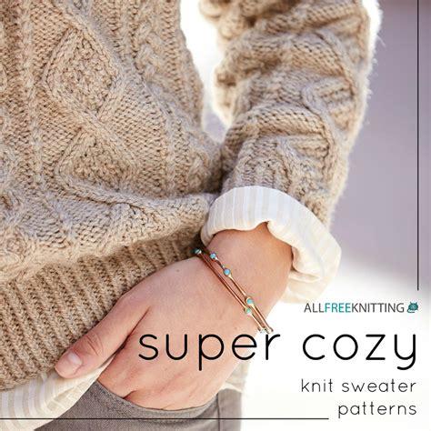 knitting patterns for jerseys 22 cozy knit sweater patterns allfreeknitting