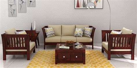 wood living room set wooden sofa sets buy solid wood sofa set upto 70