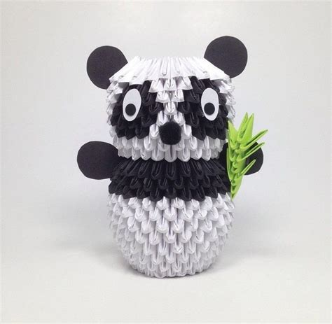 3d origami animals 3d origami panda 183 extract from 3d origami by