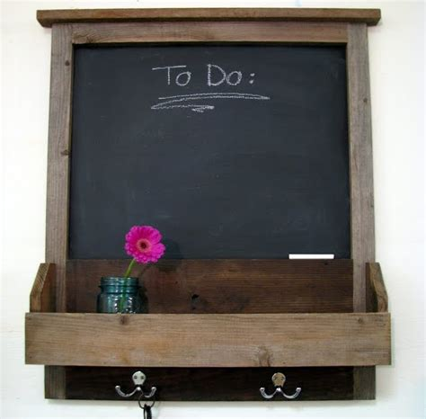 diy chalkboard message center blue roof cabin rustic wood message center