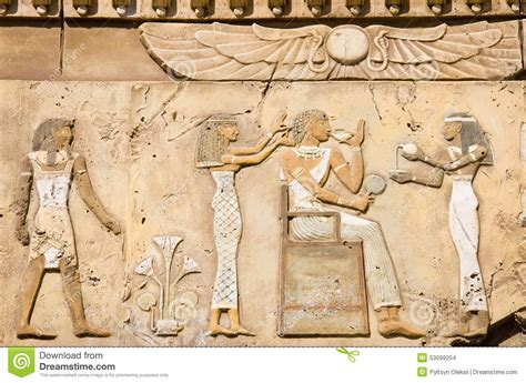 Ancient Egyptian Wall Murals ancient egyptian symbols stock photo image of surface