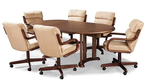 kitchen table and chairs with wheels swivel kitchen chairs with wheels 14545