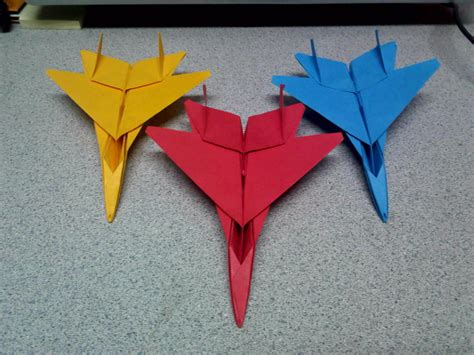 jet origami origami f15 fighter jets front view by
