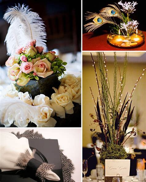 feather table centerpieces feather table centerpieces images