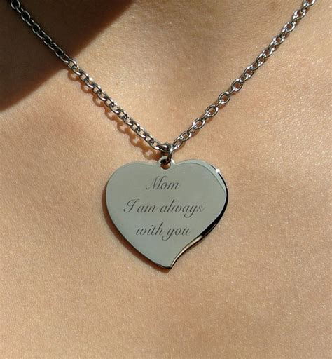 how to make engraved jewelry personalized silver teardrop necklace engraved