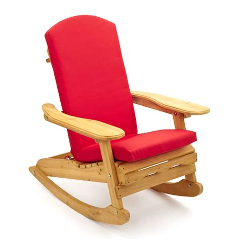 garden patio wooden rocking chair with luxury cushion