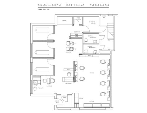 floor plan of a salon sle floorplan salons salon design