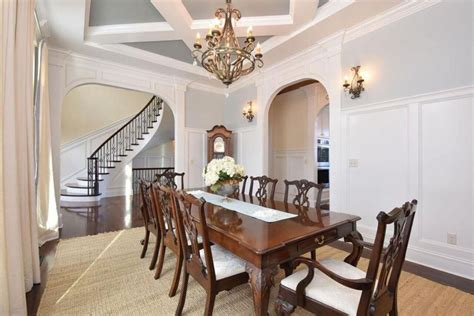 pictures of wainscoting in dining rooms two tone dining room ideas pictures designing idea