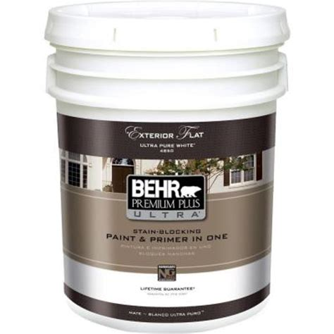 home depot ultra paint behr premium plus ultra 5 gal ultra white flat