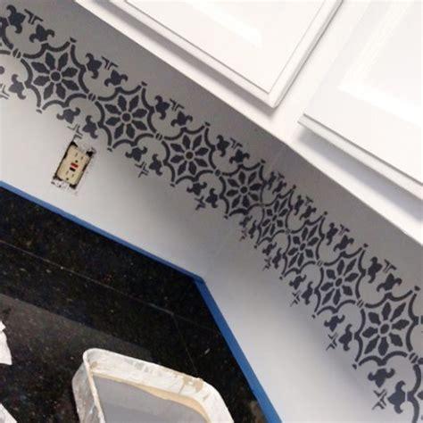 kitchen stencil ideas stenciled kitchen backsplashes stenciled driveways