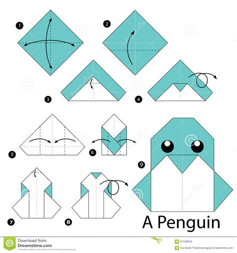 origami penguin step by step how to make origami a penguin