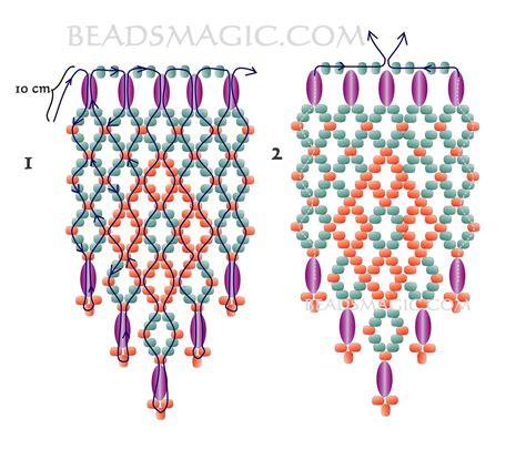 free printable seed bead patterns free pattern for beaded earrings day magic