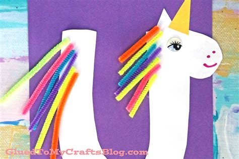 arts and crafts for for quot u quot is for unicorn kid craft glued to my crafts