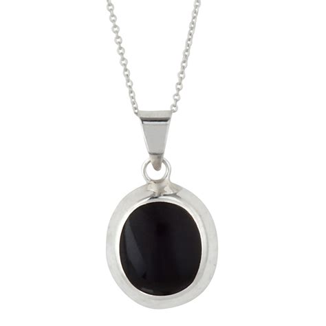 black pendants silverly 925 sterling silver black onyx oval pendant