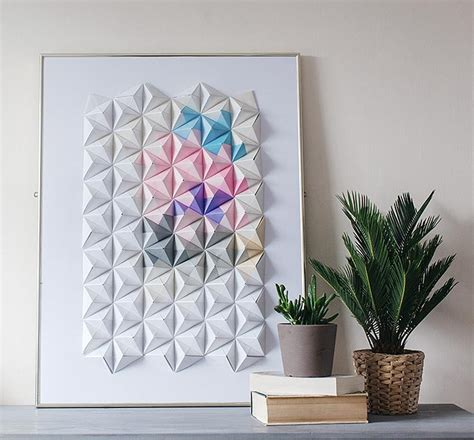 diy designs diy origami wall display design sponge