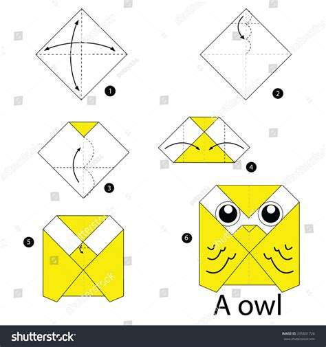 origami owl easy step by step how make stock vector 335831726