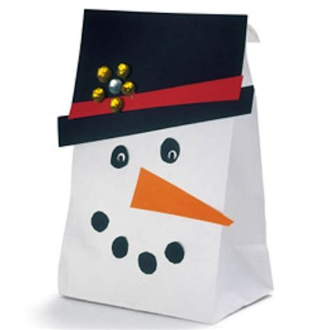 paper bag snowman craft brown snowmen craft projects