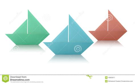 origami white paper origami paper sailing boats stock photo image 49826911