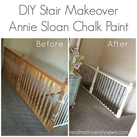 my diy chalk paint is gritty diy stair makeover with sloan chalk paint in