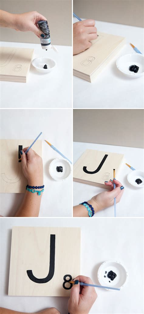 diy scrabble how to make scrabble tile table numbers