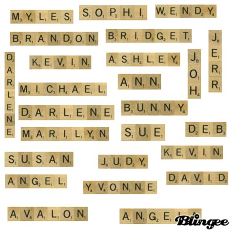 scrabble name picture scrabble names picture 106312367 blingee
