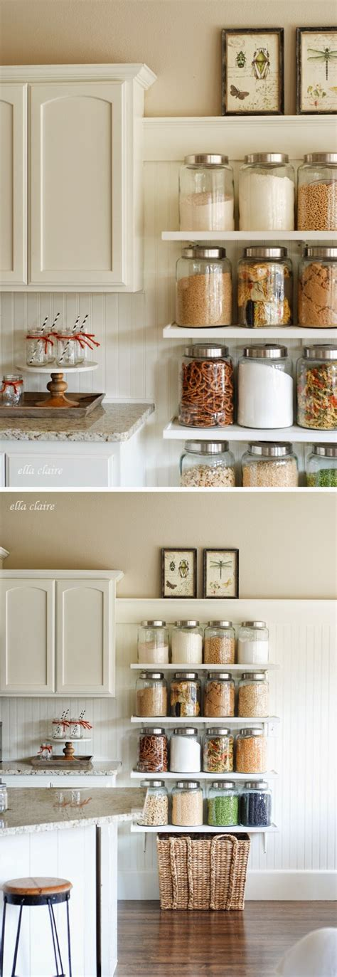 kitchen shelves diy country store kitchen shelves glass canisters