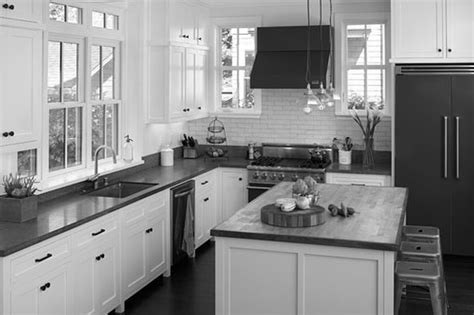 Retro Kitchen Islands black grey and white kitchen ideas kitchen and decor