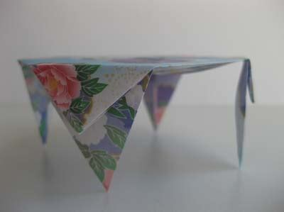 how to make an origami table origami origami table