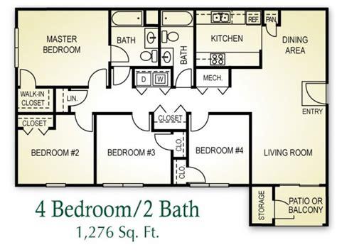 4 bedroom 4 bath house plans 4 bedroom 2 bath apartt with free wiring diagram