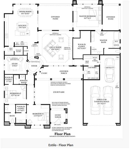 toll brothers floor plans toll brothers los saguaros estilo floor plan