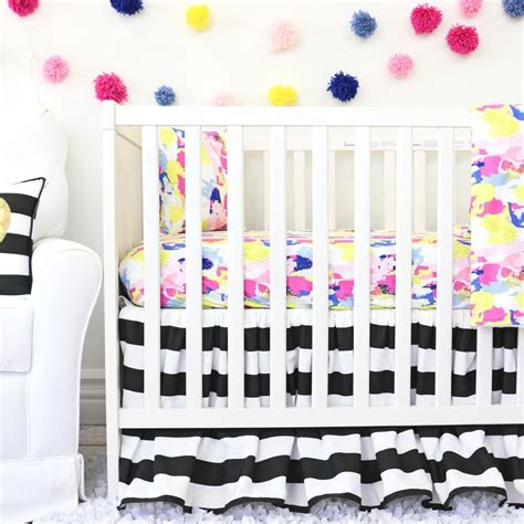 black white crib bedding makenna black and white crib bedding set by caden