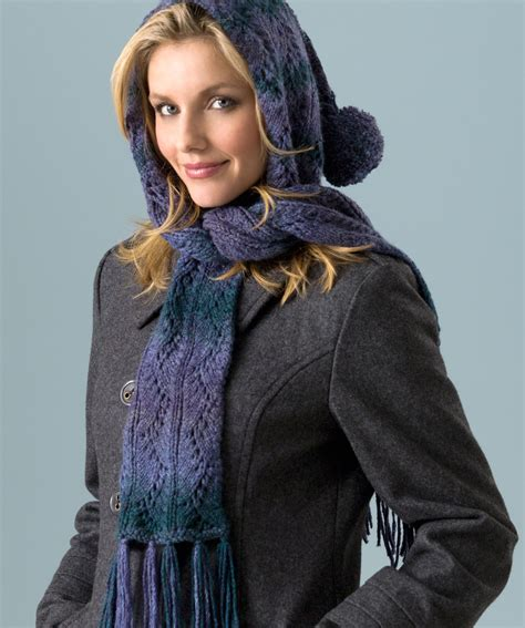 hooded shawl knitting pattern hooded lace scarf knitting pattern