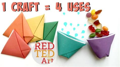 how to make paper toys origami origami paper cup ted s