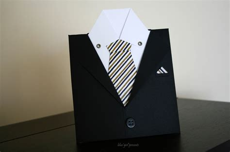 how to make a tie card blue presents blue presents