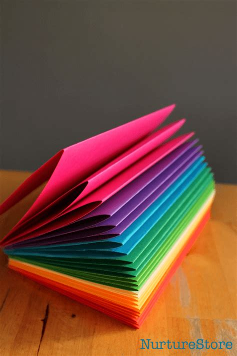 how to make picture books how to make a rainbow zigzag book nurturestore