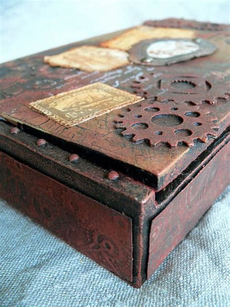 cigar box craft projects pappe ii altered cigar box nr 3 a tutorial