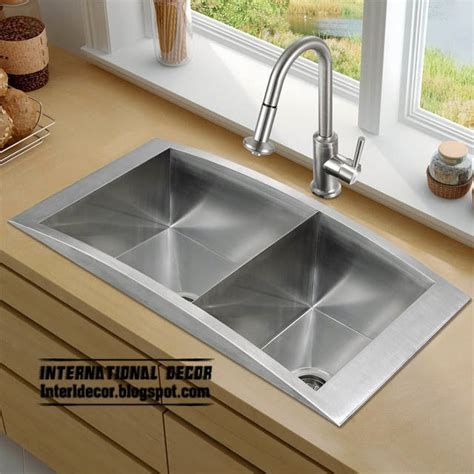 contemporary stainless steel kitchen sinks how to choose kitchen sink designs and types