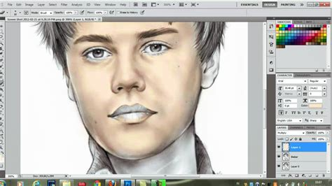 drawing in photoshop photoshop cs5 color drawing tutorial