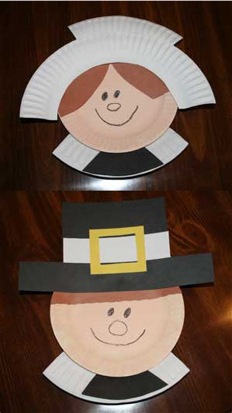 pilgrim paper plate craft thanksgiving pilgrim crafts tgif this is