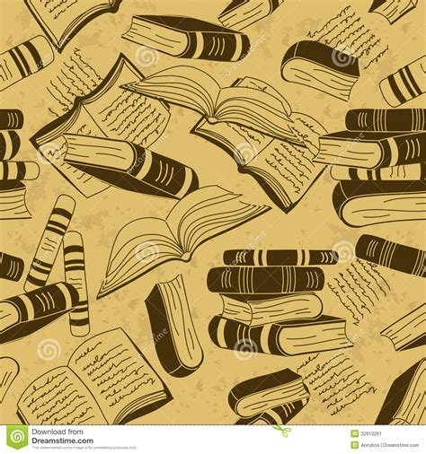 pattern picture books seamless pattern of books stock image image 32913261