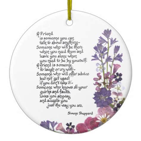 friendship ornaments friendship poem sided ceramic
