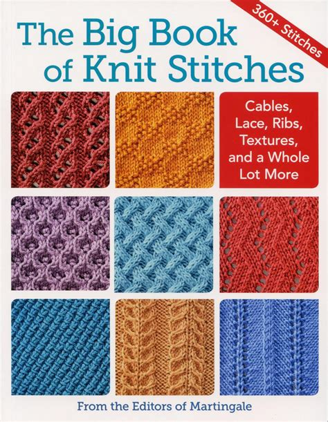 The Big Book Of Knit Stitches Knitting Book Halcyon Yarn