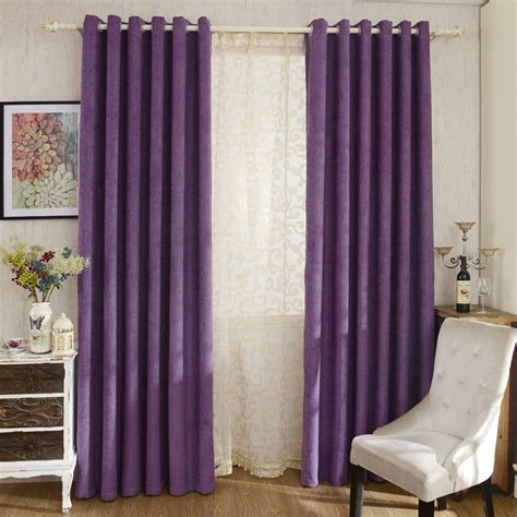 modern bedroom curtains modern purple color solid chenille bedroom curtains