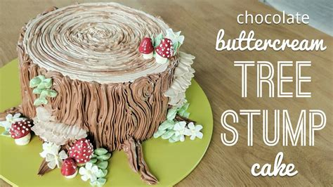 tree cake decoration relaxing cake decorating all buttercream tree stump cake
