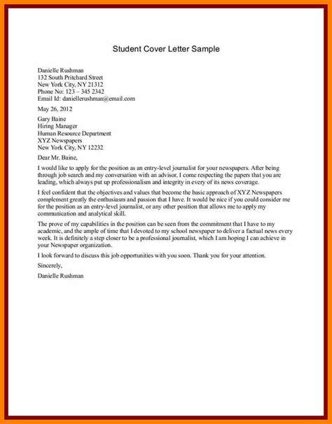 6 sample student cover letter science resume