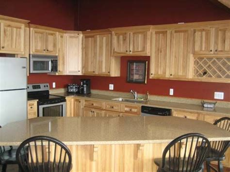 paint colors for kitchen with hickory cabinets kitchen design hickory cabinets hickory kitchen cabinets