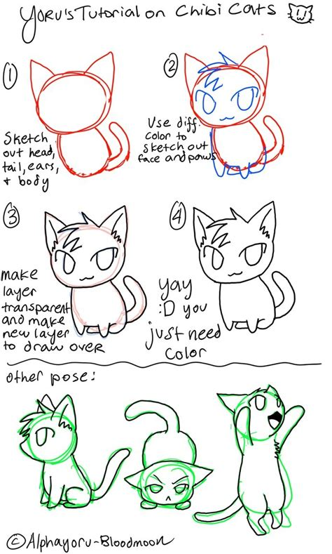 cat tutorial chibi cat tutorial anime tutorials