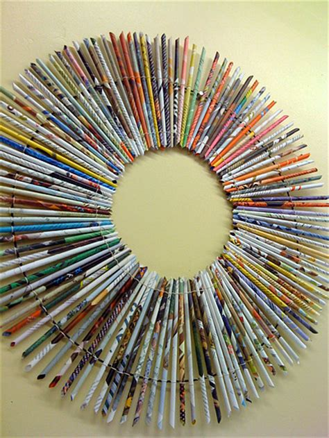 rolled paper crafts make a rolled paper wreath 187 dollar store crafts